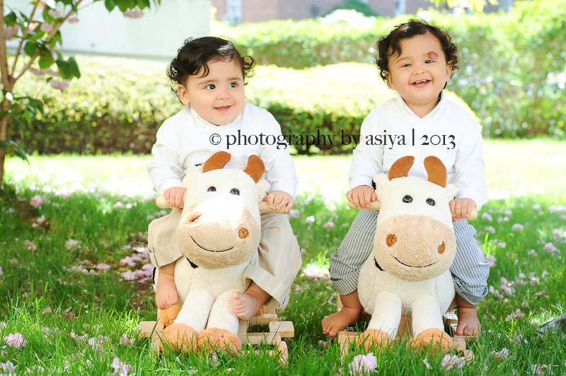 One Year Old Twin Brothers Yonkers Baby Photographer